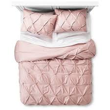 Pinched Duvet Cover Blush Pinched Pleat Duvet Cover Set Threshold Polyvore