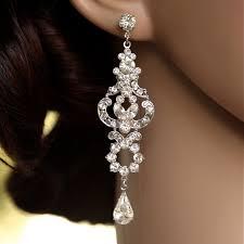 rhinestone chandelier earrings marvelous rhinestone chandelier earrings bridal deco