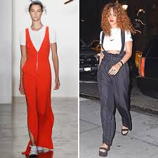 rihanna jumpsuit adam selman s summer 2016 at york fashion week