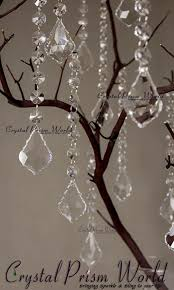 hanging crystals wedding pendant decorations prism world