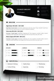Resume It Template Modern Resume Template With Photo White Background U2013 U201cstanley Bryant U201d