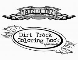 dirt track coloring book custom covers