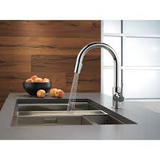 delta stainless steel kitchen faucet sinks faucets delta trinsic kitchen 15 single handle stainless