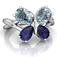 blue butterfly rings images Aquamarine and sapphire butterfly ring r5150 waqsp jpg