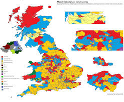 Blank Electoral Map by Map Of Uk Constituencies Showing The 2nd Placed Party In The Most