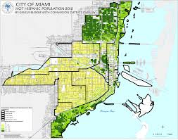 City Of Miami Zoning Map by Planning Demographics 2010