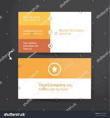 template solid business card minimalistic flat stock vector