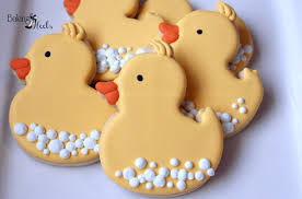 rubber ducky baby shower cookies baby shower favors