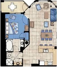 Marriott Aruba Surf Club Floor Plan | one bedroom villas arubasurfclubresort com