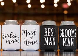 wedding can koozies personalized wedding favors start your custom wedding favors