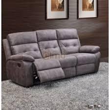canapé en tissu gris canapé 3 places relax milord tissu gris haut de gamme