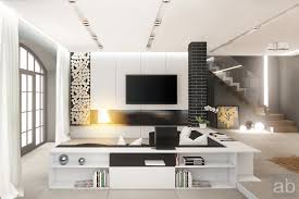 contemporary decorations modern black and white scheme living room behind sofa decoration