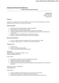 Resume For Electrician Job by Sample Cover Letter For Electrician Resume Cv Cover Letter