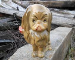 japanese guard dog statues vintage japanese chin etsy