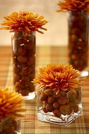 47 Easy Fall Decorating Ideas by Cool Fall Flower Centerpiece And Flower Table 47 Centerpieces