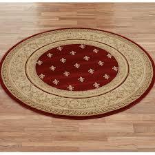 regent fleur de lis round area rugs