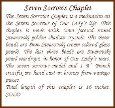 rosary of the seven sorrows chaplets