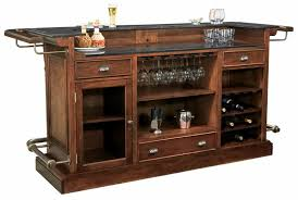 disress cherry wine bar console furnishings howard miller 693027