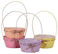 wicker easter baskets with plastic liners rope
