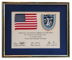 Joseph Stalin Flag Apollo 10 Flown Flag U0026 Patch Sold For 4 375 At Natedsanders Com