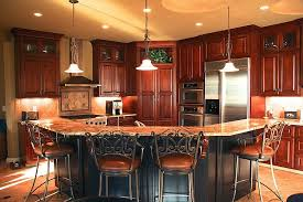 Distressed Black Kitchen Island Kitchen Cabinets Painted A Satin Black Then Distressed And