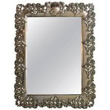 Table Top Vanity Mirror Antique Sterling Silver Tabletop Vanity Mirror By William Comyns