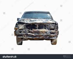 rusty car white background front view burnt pickup truck by stock photo 545972911 shutterstock