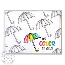 color me happy 3x4 photopolymer clear stamp set sunny studio stamps