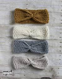 knotted headband crochet pattern sizes headband