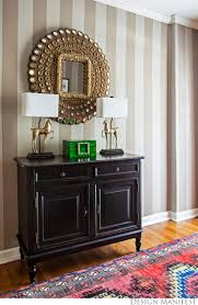 Entryway Mirrors Dm Project A Striped Foyer Before And After Design