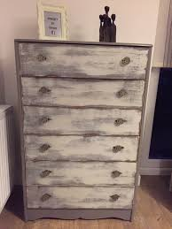 very solid tall chest of drawers upcycled and painted with