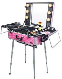 makeup case with lights and mirror private mold make up case with lights mirror professional pk led
