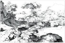 coloring pages for landscapes landscape coloring pages for adults landscape coloring page