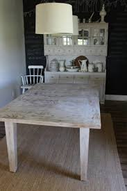 Distressed Kitchen Tables Charming White Distressed Kitchen Table With Round Dining