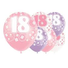 balloons for 18th birthday 18th birthday balloons partyrama co uk