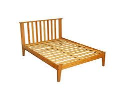 full size solid oak mission wooden platform bed frame hardwood