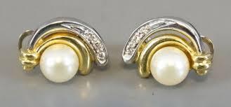 cercei din aur cercei din aur cu perle si diamante magazin antichitati online