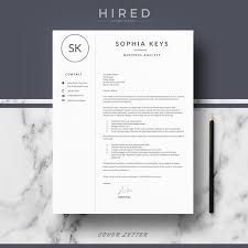 Enclosing My Resume Modern Resume Template Archives Hired Design Studio