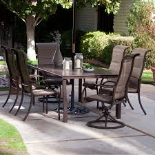 6 Seat Patio Dining Set Coral Coast Del Rey Deluxe Padded Sling Aluminum Table Dining Set
