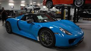 Porsche 918 Blue - porsche 918 spyder with riviera blue paint and weissach package