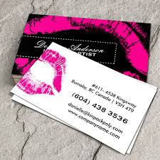 Design Your Own Business Card For Free Pink Makeup Business Cards You Can Customize This Card With