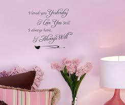 love decorations for the home i love you yesterday i always will wall sticker quotation home