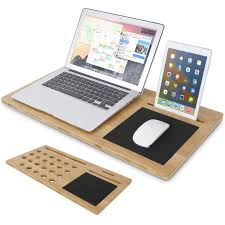 Laptop Cooling Desk Shop For Lifewit Bamboo Desk Lapdesk With Mouse Pad Laptop
