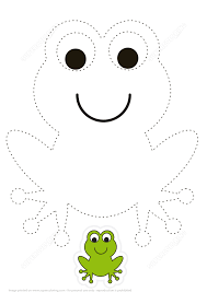 trace and color cartoon green frog free printable puzzle games