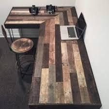 rustic l shaped desk unique and elegant diy pallet project ideas wood projects project