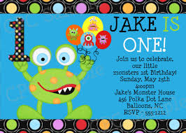 Bday Invitation Cards For Kids Monster Birthday Invitations Templates Free Invitations Ideas