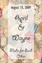 wedding quilt sayings label for wedding gift quilt my quilts quilt
