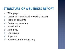business report example title page