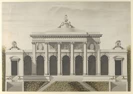 metro bureau etienne after etienne louis boullée elevation for the garden front of the