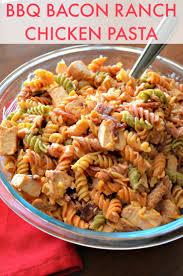 you should make easy bbq bacon ranch chicken pasta
